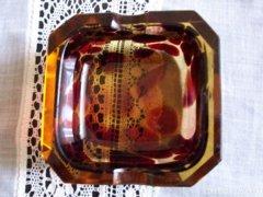 ART DECO gyönyörű üveg hamutál