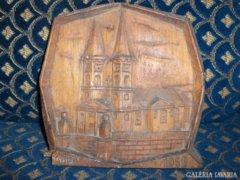 """Régi falikép fából - """"1838 - 1958"""""""