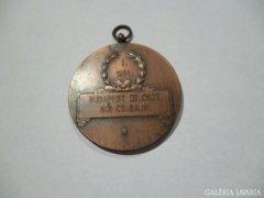 2868 J2 Régi réz sport kitüntetés tenisz 1951