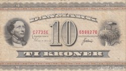 Dánia 10 kroner 1936