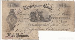 Angol 5 pounds 1883  ( Darlington BANK)  1db