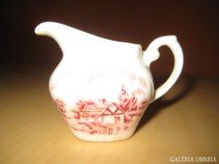 Angol miniatűr szószos porcelán kiöntő.