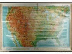 4452 T0 Nagyméretű USA domborzati térkép