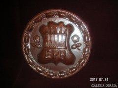 Zsolnay óriásplakett, eozin, nagyméretű, pirogránit falidísz. 30*4cm. xxxxxxx