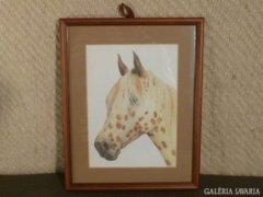 4449 T44 Offset papír lovas kép keretben