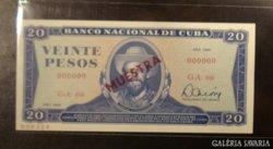 CUBA  20 pesos MINTA 0000  UNC !  1983 RITKA !
