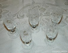 Kristály talpas kupica készlet - likőrös poharak