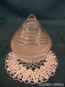 Üveg bonbonier régi