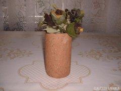 Dekor cső alakú samott váza