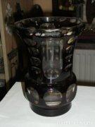 Bordó kristály váza