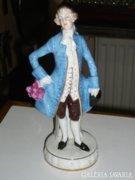 Német porcelán férfi figura
