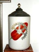 Antik 1870. Pálfy Szegedi Paprika tégely 60cm