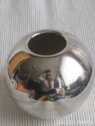 H.R.W. Fink ezüstözött gömbváza, modern