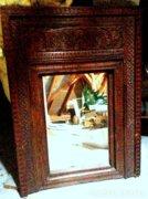 Antik Indiábó származó rusztikus TÜKÖR