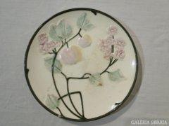 0646 Régi majolika gyümölcsös falidísz tányér