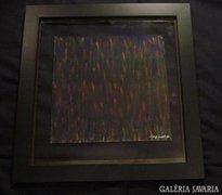 Sergio Valmir Bosa:COLORED DROPS 49  X 47  cm