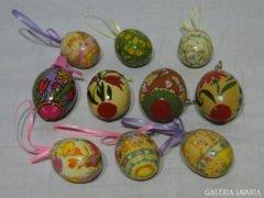 0786 Festett húsvéti tojás gyűjtemény 10 db