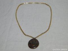 0954 Retro kerámia díszes női nyaklánc 78 cm