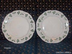 Gyönyörű, régi Zsolnay lapos tányér - 2 darab