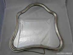 0415 Antik szecessziós ezüstözött asztali tükör
