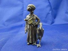 6180 Antik bécsi bronz szobor keleti arab figura