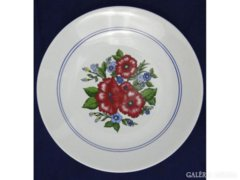 7341 Zsolnay porcelán falidísz tál dísztányér 25cm