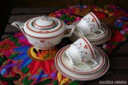 Royal Wenton Burslem angol teás készlet, fajansz, art deco