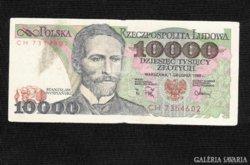 10000 Zloty 1988  Lengyelország