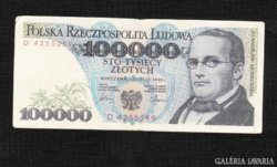 100000 Zloty 1990  Lengyelország