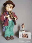 Hummel porcelán baba Kis Hegedűs #513 34cm!