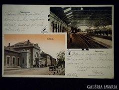 A083 Képeslap Nagykanizsa Indóház Pályaudvar 1913