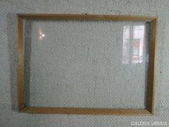 7717 Régi vágható léckeret üveglappal 48 X 68 cm