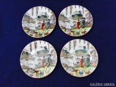 7575 Régi japán mintás porcelán tányér 4 darab