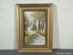 7799 Régi aranyozott vágható képkeret 18 x 28 cm