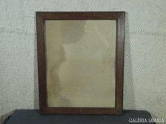 7850 Régi keményfa intarziás képkeret 42 x 53 cm