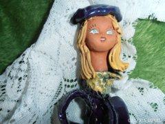 Jójárt Erzsébet kék kerámia figura