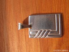 Klasszikus fazonú gravírozható 925 ezüstmedál