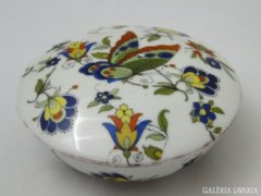 7864 Régi DRASCHE pillangós porcelán bonbonier