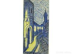 8345 Romvári Etelka krétarajz Szentendrei részlet