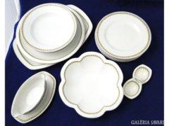 K070 Régi 4 személyes porcelán étkészlet