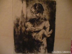 Anya gyermekével rézk. KISS TERÉZIA