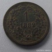 1 Krajcár - 1882. Magyar Királyi Váltó Pénz