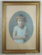 6205 Antik színezett korai gyerek fotográfia