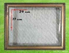 8259 Régi aranyozott vágható fényképkeret 17 x 24