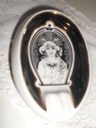 Hollóházi porcelán hamuzó