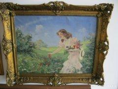 Illencz Lipót szép festménye eladó