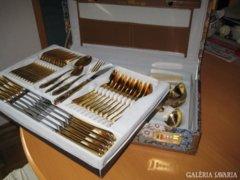 Arany Barokk 24 karátos,extra-luxus evőeszköz! 12 szem.70db.