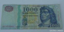 """1000 forint 2006. """"DA"""""""
