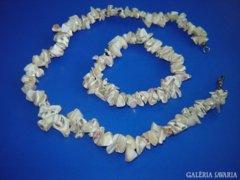 Kagyló nyaklánc karkötővel
