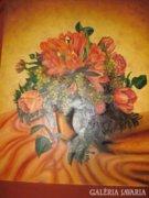 Olajfestmény: Virágcsendélet